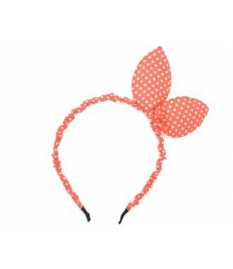 Serre-tête bunny pois orange