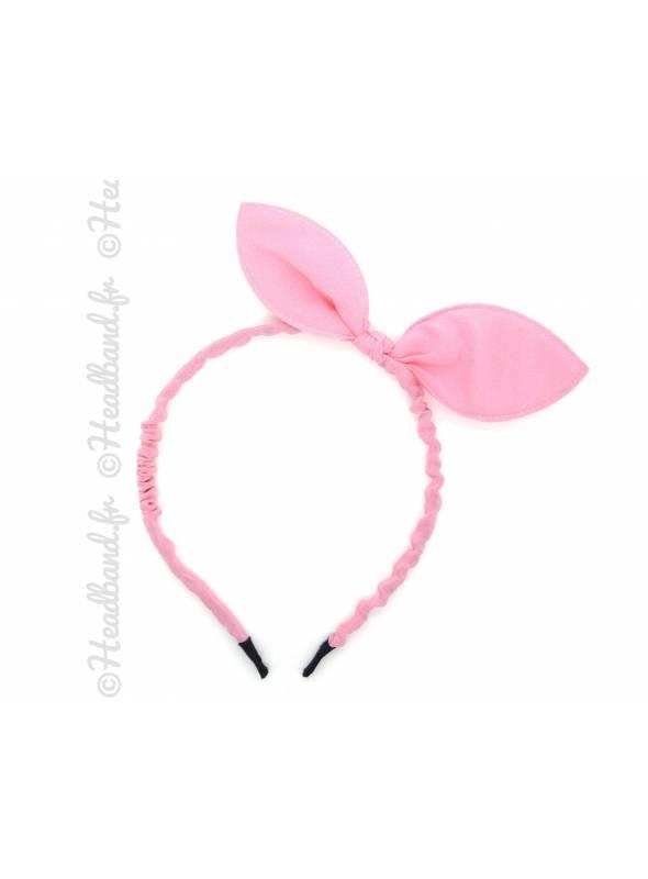Serre-tête bunny rose clair
