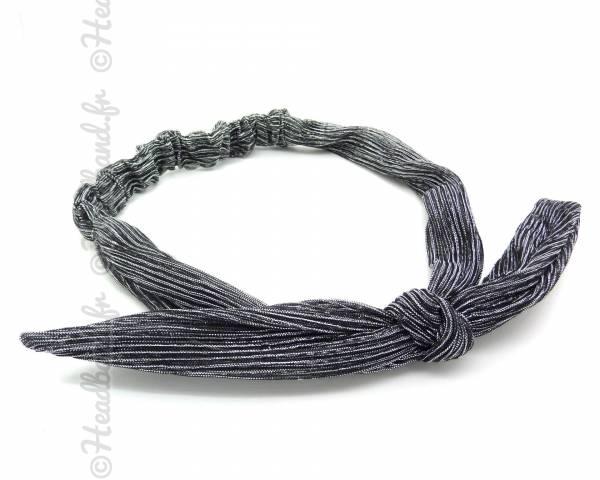 Bandeau fils métalliques argenté
