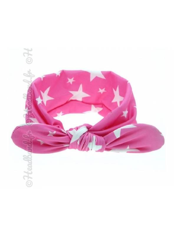 Headband bébé motif étoile rose
