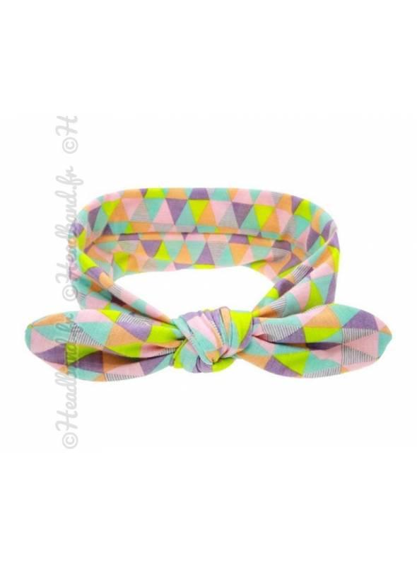 Headband bébé motif triangle multicolores