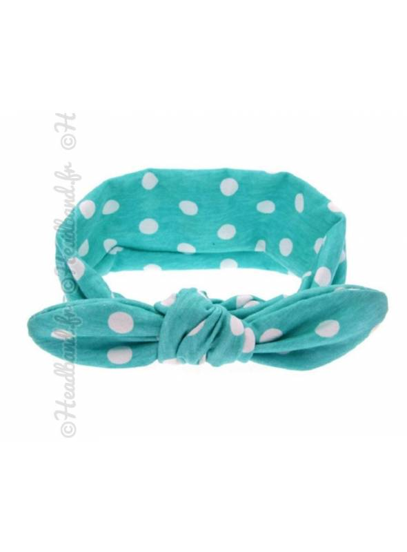 Headband bébé vert et blanc