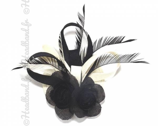 Chapeau bibi noir et crème