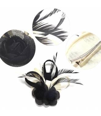 Chapeau bibi noir et blanc 2