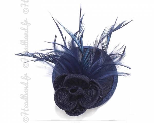 Mini chapeau fleur marine à clip