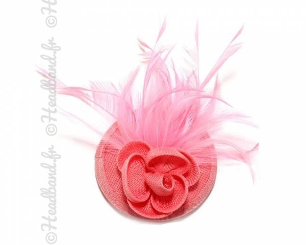 Mini chapeau fleur corail à clip
