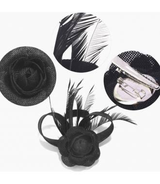 Fascinateur cérémonie noir à fleur