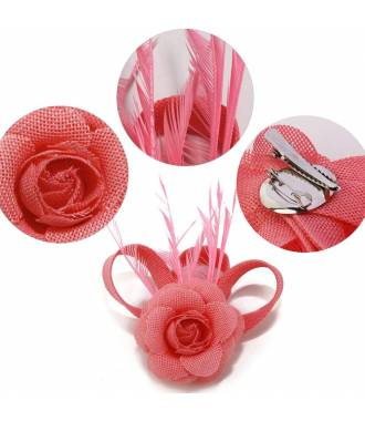Fascinateur cérémonie rose à fleur