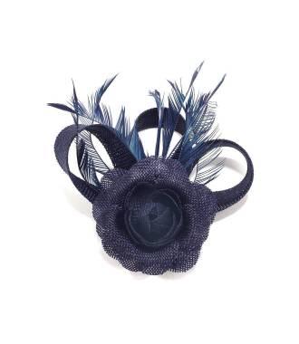 Fascinateur cérémonie bleu à fleur