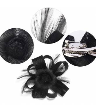 Fascinateur fleur sur pince noir