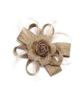 Fascinateur fleur à clip kaki