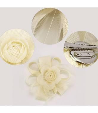 Fascinateur fleur à clip ivoire