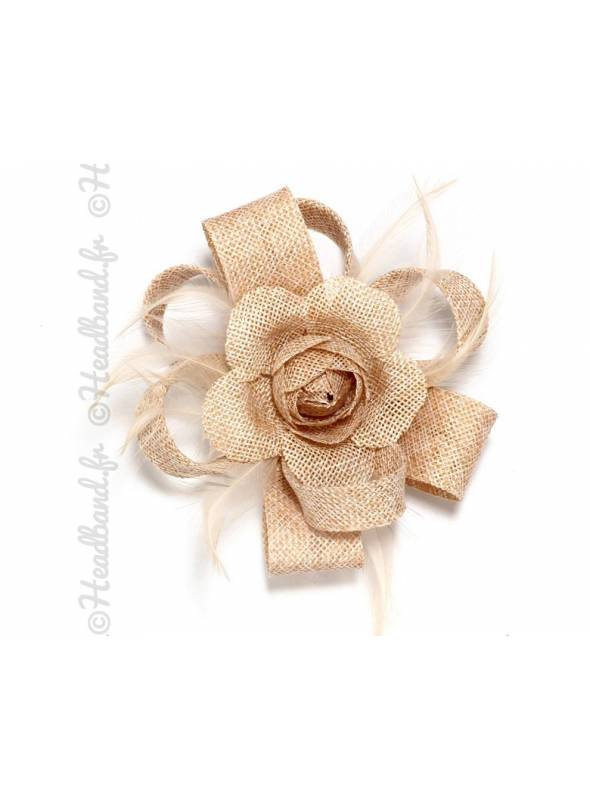 Fascinateur fleur à clip nude