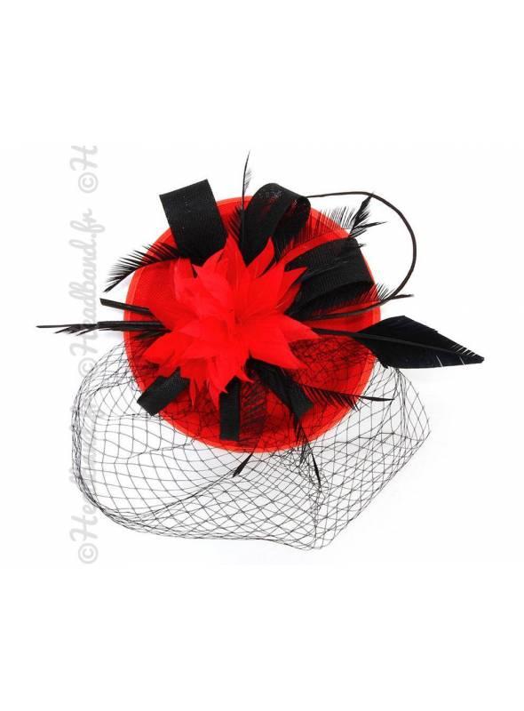 Chapeau gala bicolore rouge et noir