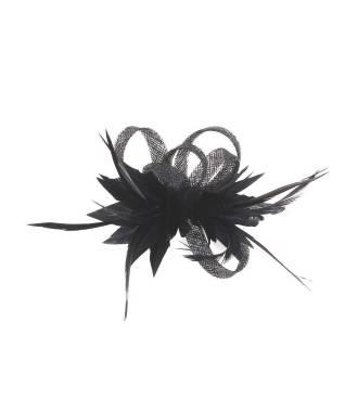 Bibi rétro à plumes noir