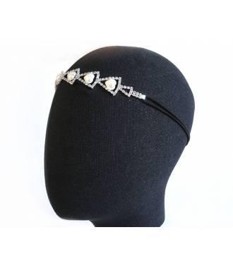 Bijou de tête argent Anastasia
