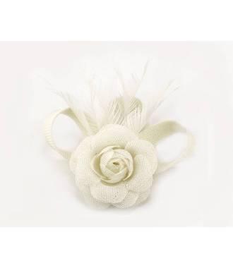 Fascinateur cérémonie ivoire à fleur