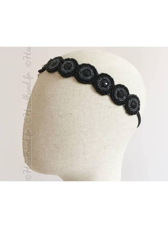 Bijou cheveux Laura ronds perlés