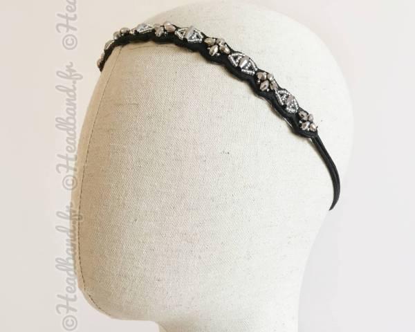 Headband argenté Katy