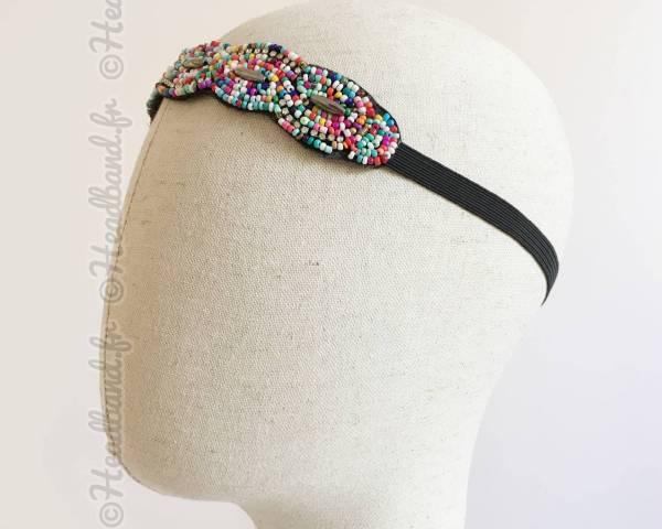Bijou de tête applique multicolore