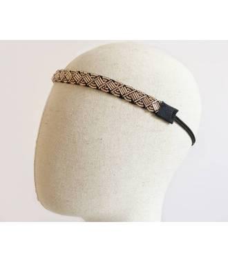 Bijou de tête bronze en perles