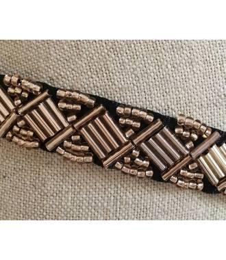 Bijou de tête bronze en perles zoom