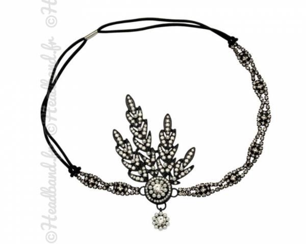 Headband inspiration Gatsby noir