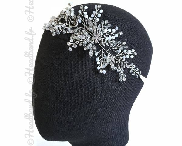 Headband mariée feuilles style romantique