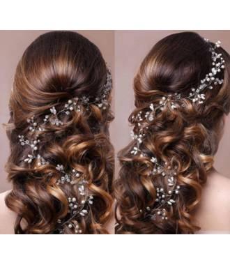 Vigne cheveux en perles Angelina