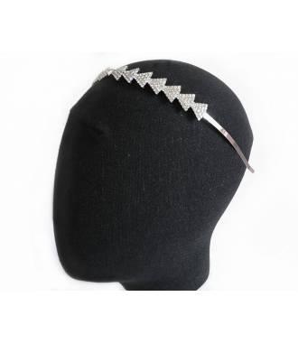 Serre-tête mariée formes triangles strass