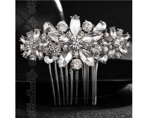 Peigne cristaux mariage Milena