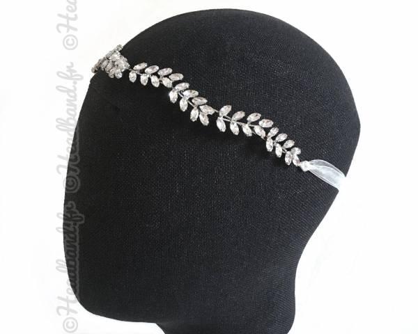 Bijou de tête strass forme épi Déotille