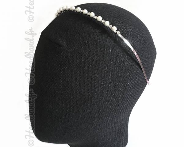 Serre-tête mariage perles nacrées Anna