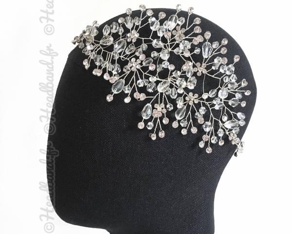 Tiare motif romantique en perles Stella