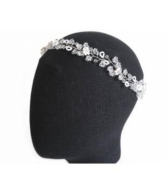 Tiare perles rocailles fleurs Léna