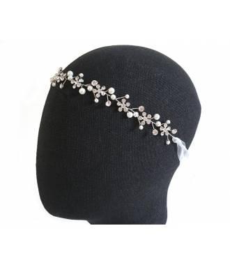 Tour de tête romantique organza et cristaux