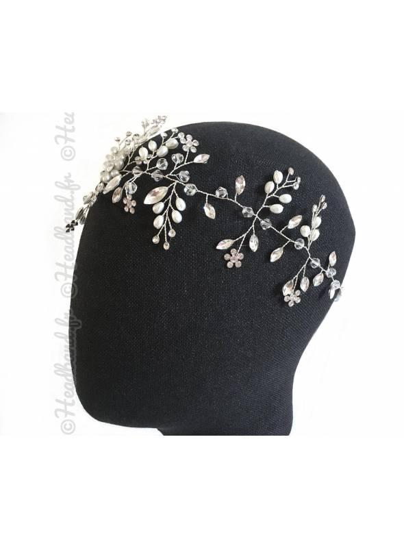 Headband branchage motif fleurs Paolina