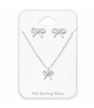 Parure bijoux noeud en argent