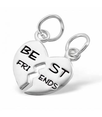 Pendentif inscription best friends argent 925