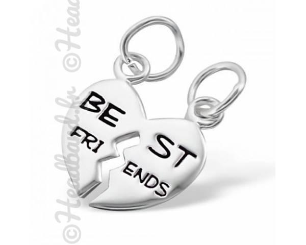 Pendentif inscription best friends en argent