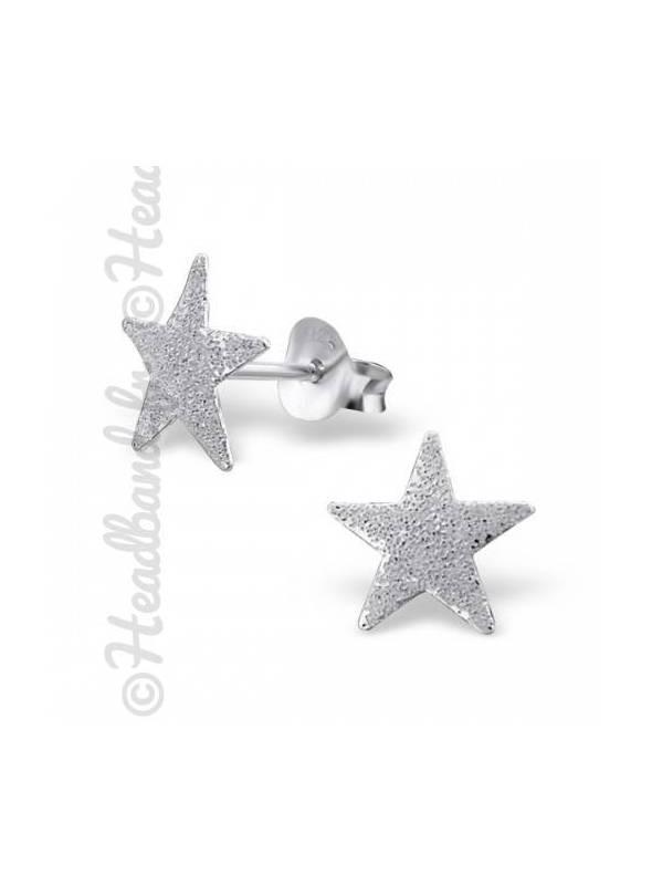 Boucles d'oreilles puces étoile argent 925