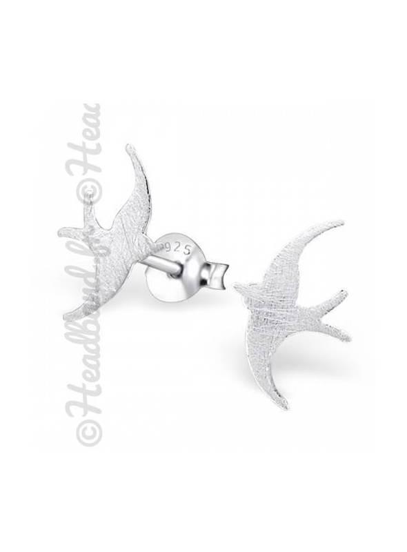 Boucles d'oreilles motif oiseau argent 925