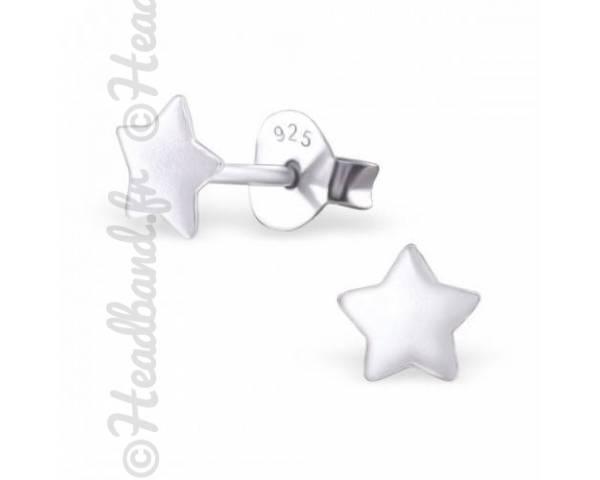 Boucles d'oreilles motif étoile argent