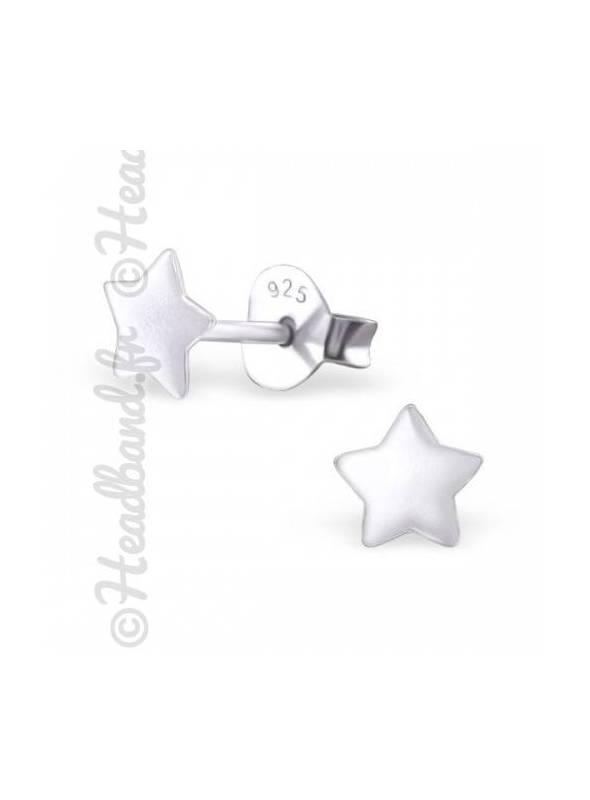 Boucles d'oreilles motif étoile argent 925