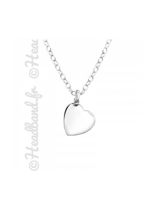 Collier femme pendentif motif coeur argent 925