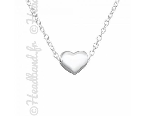 Collier femme motif coeur argent 925