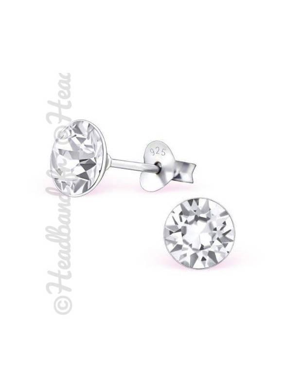 Boucles d'oreilles stud rond Swarovski® crystal