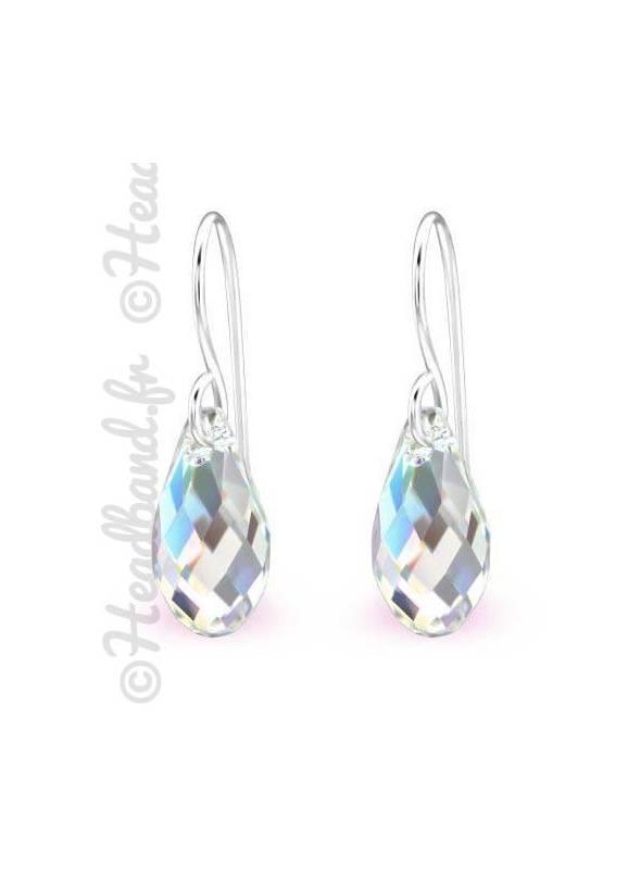 Boucles d'oreilles pendentif Swarovski® cristal AB