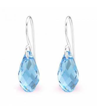 Boucles d'oreilles pendentif Swarovski cristal aquamarine