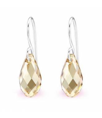 Boucles d'oreilles pendentif Swarovski cristal golden shadow